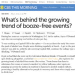 What's behind the growing trend of booze-free events?