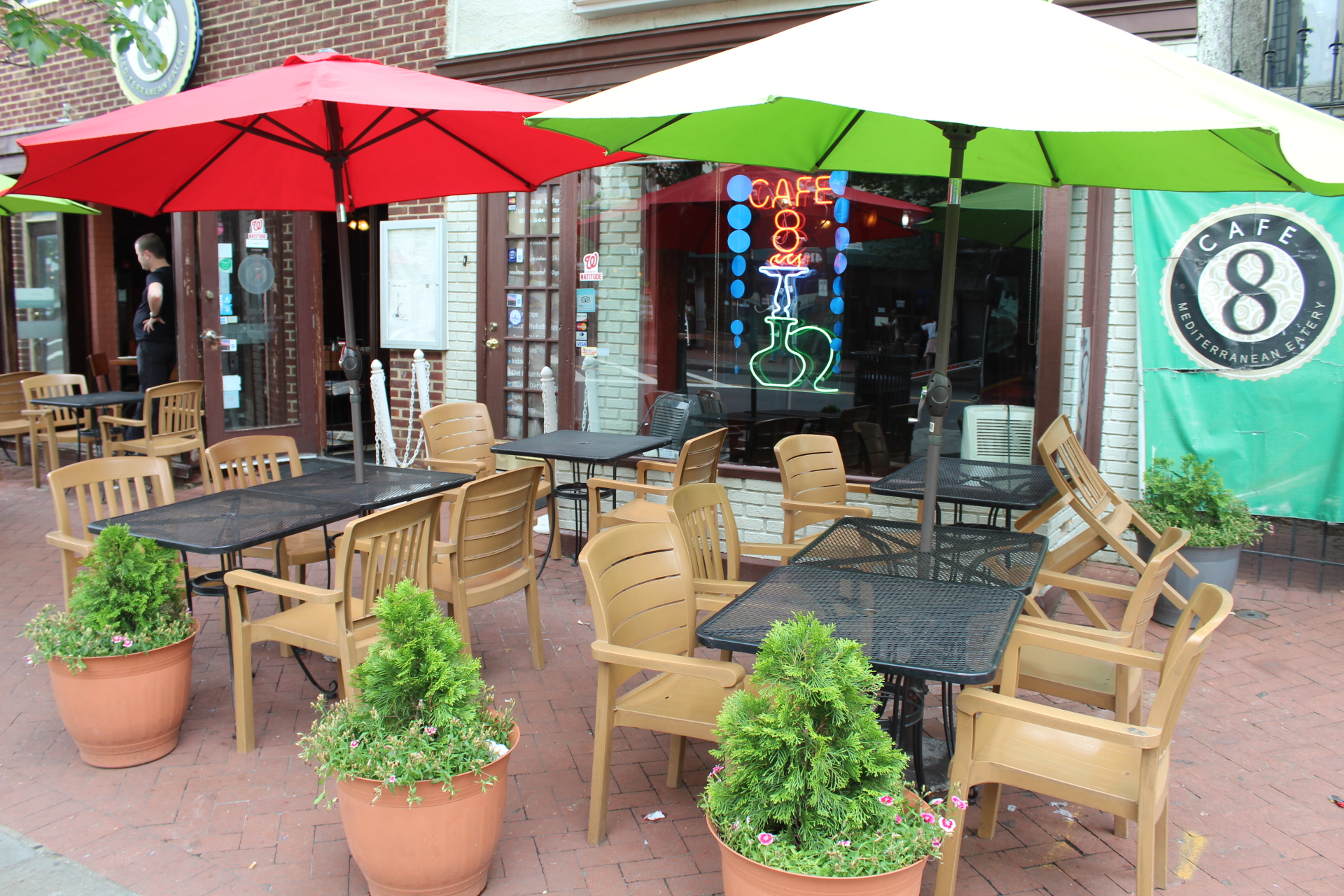 The Cafe 8 hookah bar and restaurant is a half mile from the Richard Wright School for Media and Journalism Arts public charter school where the author is a student.