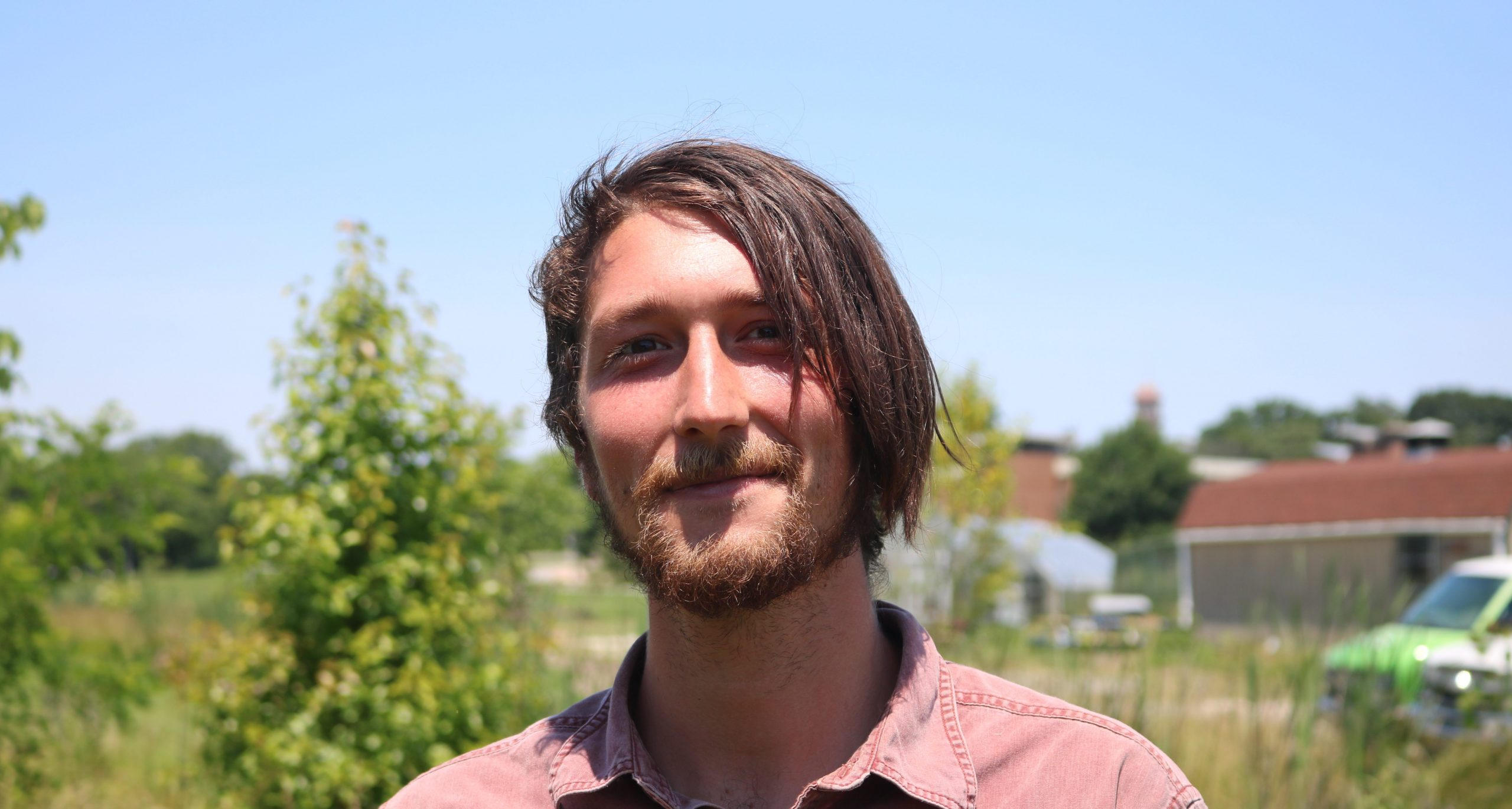Dylan Moran of Real Food Farm near Clifton Park in Baltimore, Maryland
