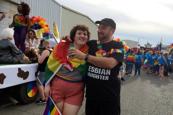 Pride centers this father-daughter relationship
